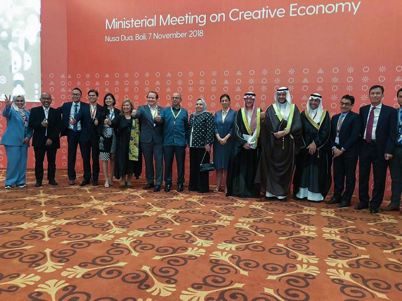المملكة تختتم مشاركتها في المؤتمر العالمي الأول للاقتصاد الإبداعي في بالي