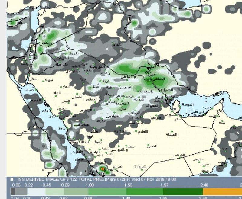 الحصيني : أجواءً باردةً وماطرة على فترات متقطعة في إجارة هذا الأسبوع