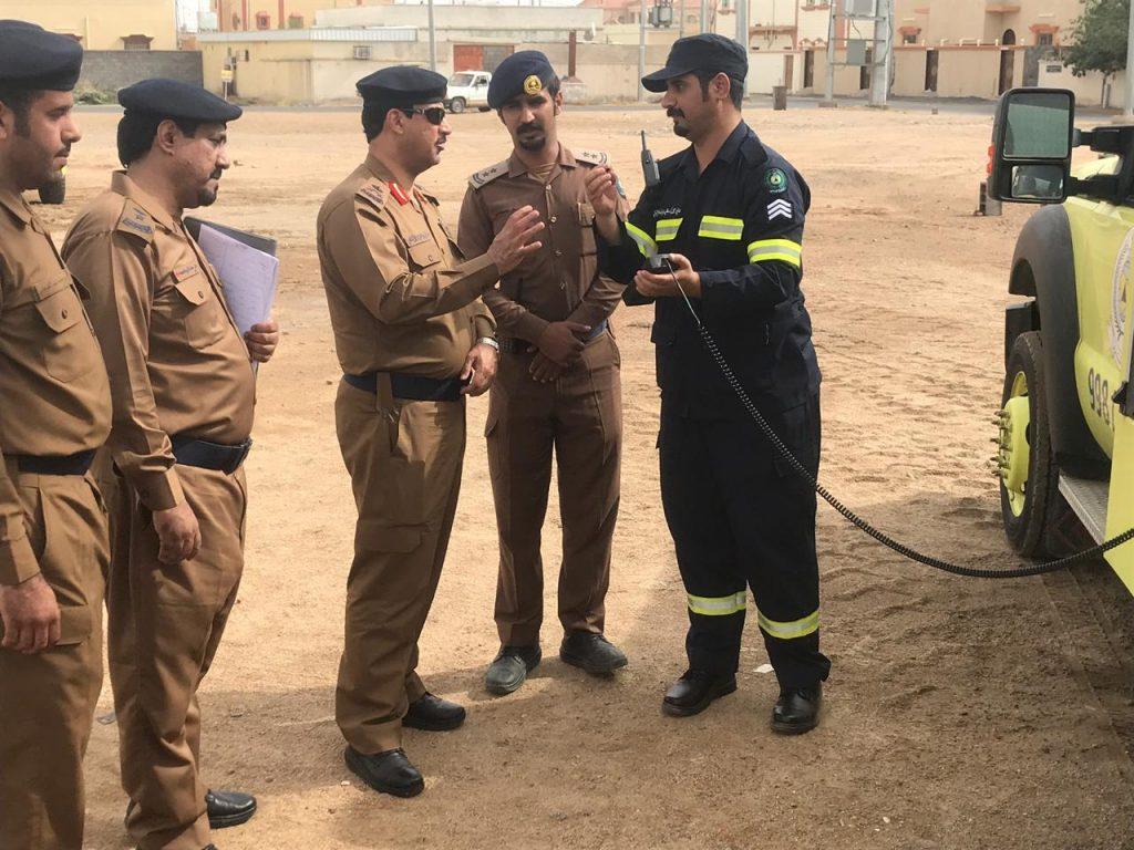 مدير الدفاع المدني بمنطقة نجران يواصل جولاته التفقدية لإدارات محافظات المنطقة