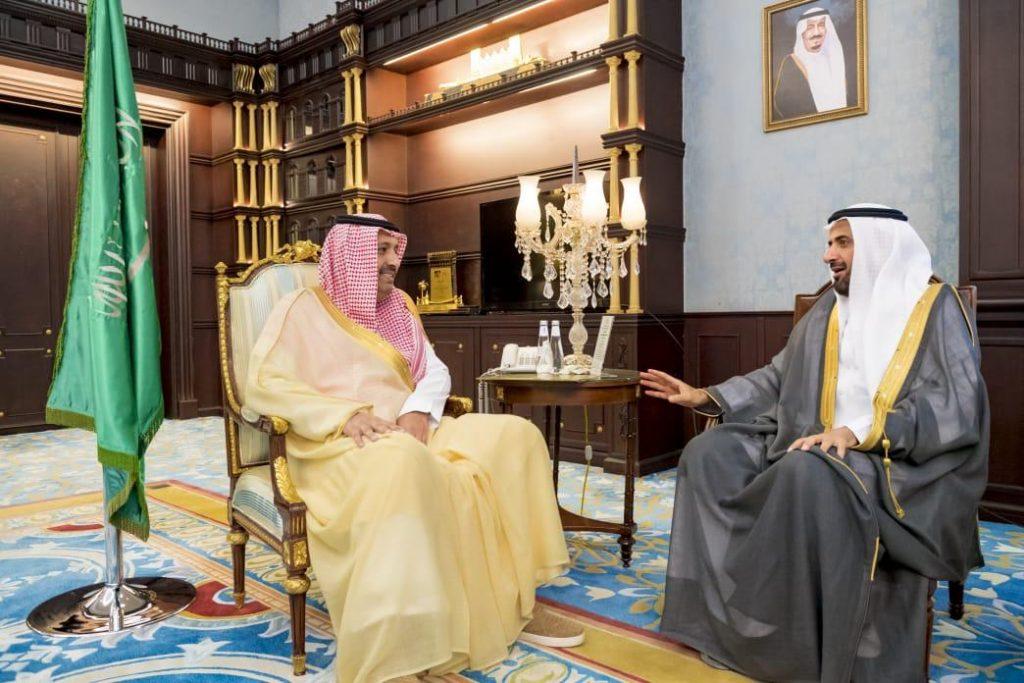 أمير الباحة يستقبل وزير الصحة