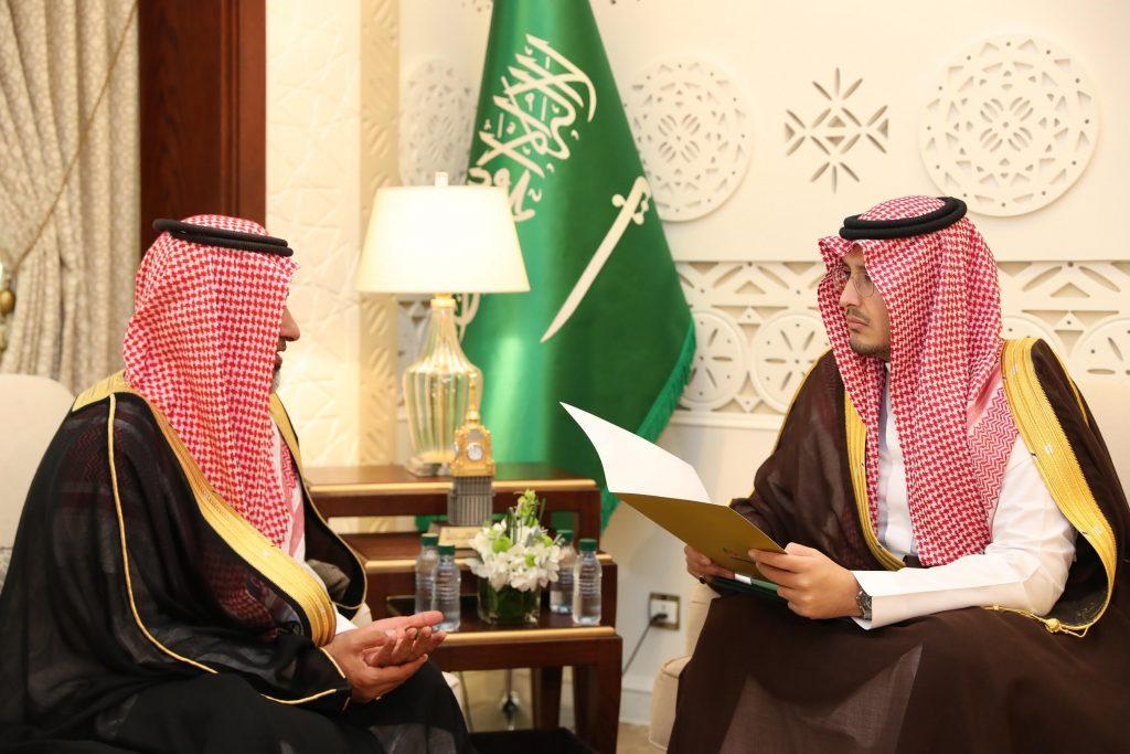 الأمير أحمد بن فهد يستقبل منسوبي الجمعية الخيرية لصعوبات التعلم
