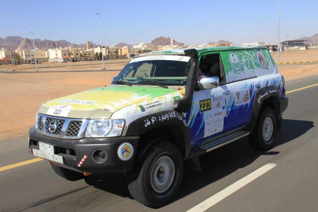 فريق حرس الحدود يستعد للانطلاقة بسيارتين في رالي حائل الدولي