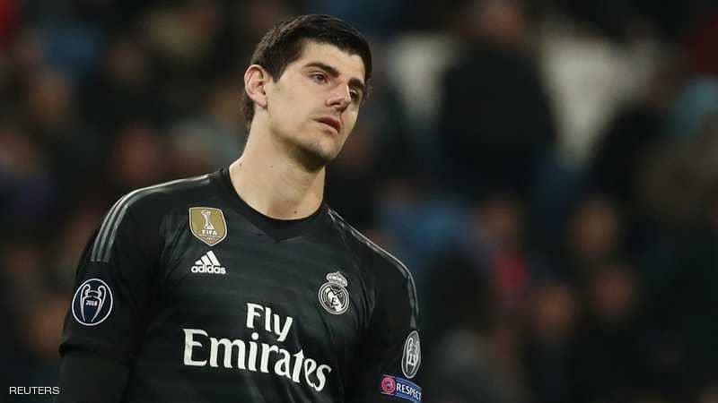 ريال مدريد يعلن غياب العملاق كورتوا عن مباريات مهمة