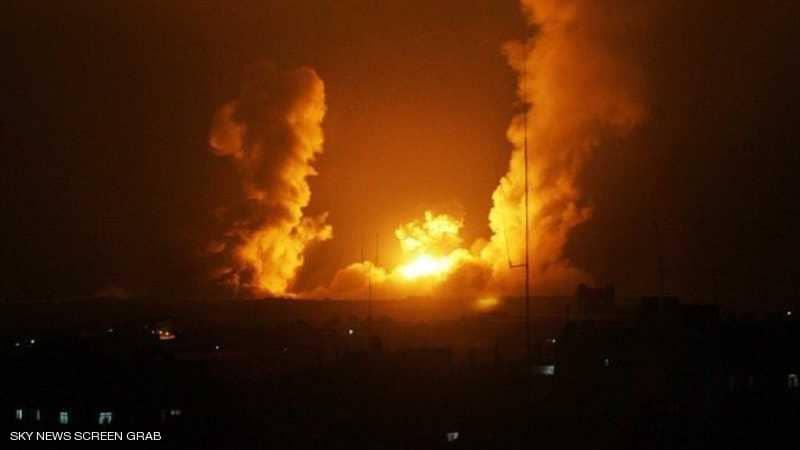 """غارات """"إسرائيلية"""" تستهدف مستودعات لميليشيات حزب الله في دمشق"""