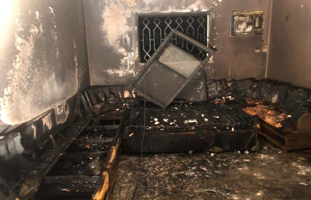 إخلاء 14 شخصاً إثر حريق بعمارة في الطائف