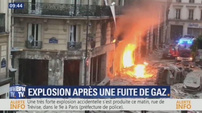 26 جريحاً بانفجار إثر تسرب الغاز في باريس