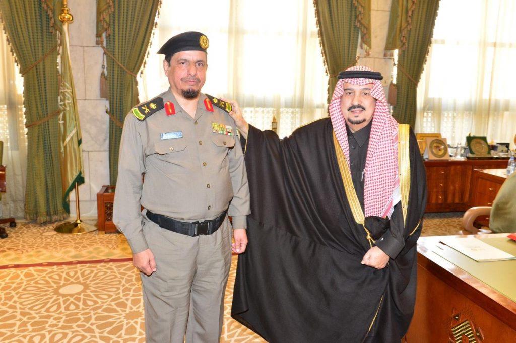 أمير منطقة الرياض يقلّد السبيعي رتبته الجديدة