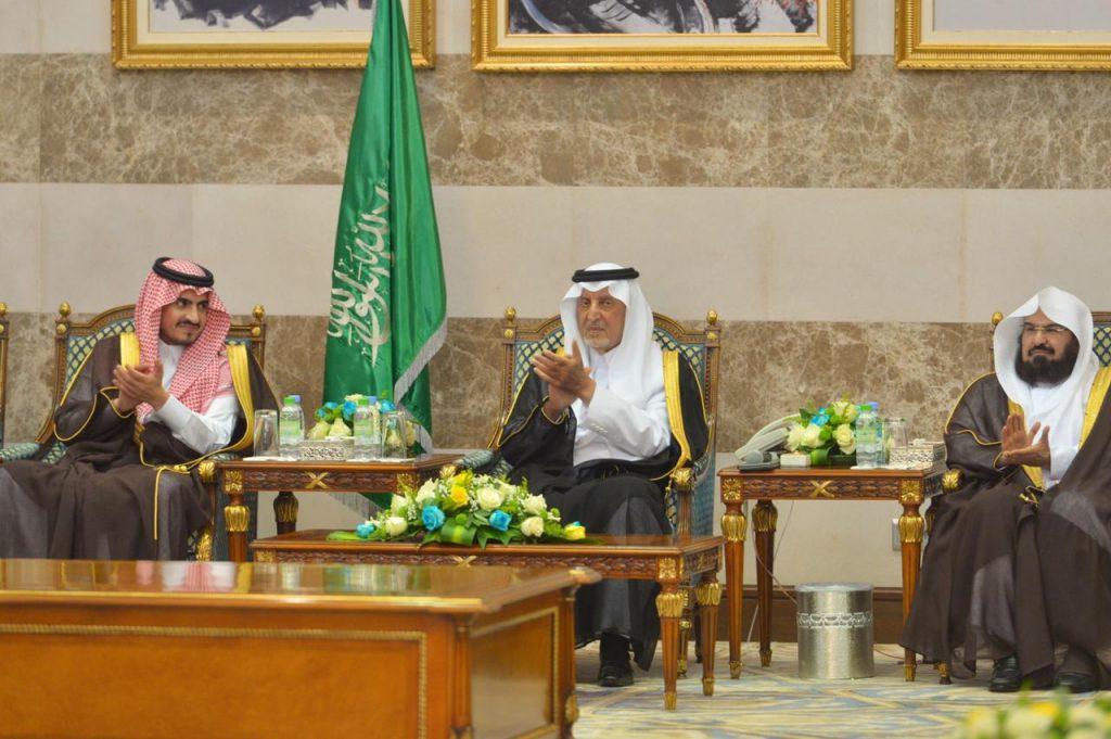 أمير مكة يقيم مأدبة عشاء بمنزله ترحيبا بنائبه الأمير بدر بن سلطان