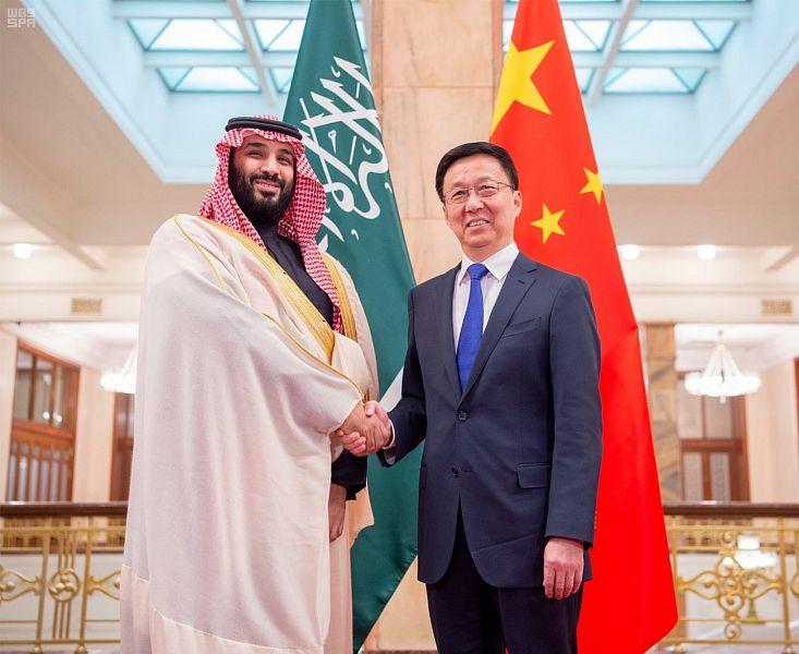 ولي العهد يجتمع مع نائب رئيس مجلس الدولة الصيني لاستعراض العلاقات وفرص تطويرها