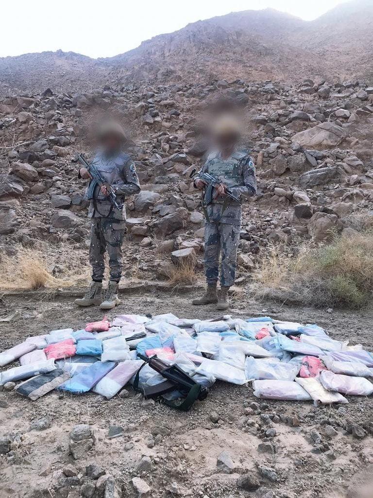 حرس الحدود بمنطقة نجران يحبط محاولة تهريب (٣٠٩) كيلوجرام من الحشيش المخدر