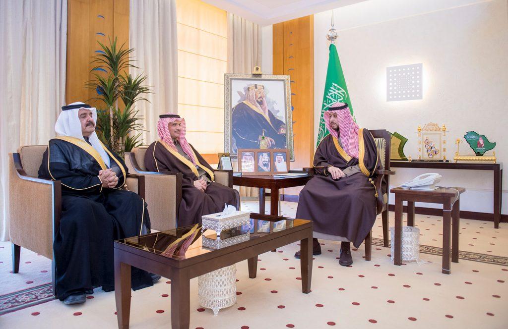 نائب أمير القصيم يستقبل رئيس وأعضاء مجلس إدارة نادي الحزم