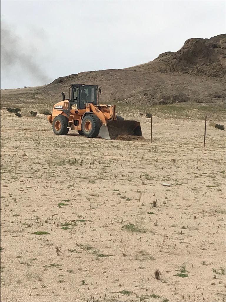 إزالة التعديات على الأراضي في 25 موقع بتبوك