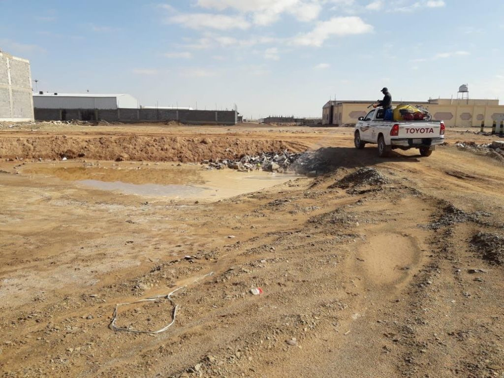 أمانة منطقة تبوك تواصل جهودها في مجال الإصحاح البيئي بعد هطول الأمطار