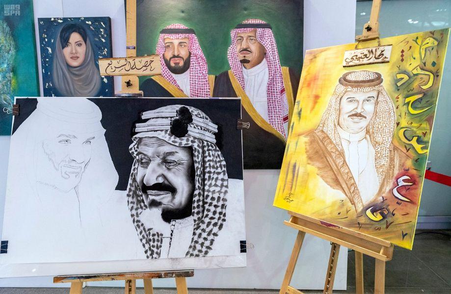 30 لوحة فنية تزين رواق معرض الرياض الدولي للكتاب