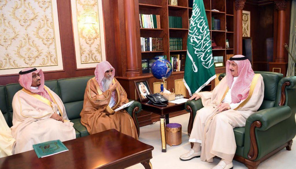 أمير جازان يستقبل فضيلة مفتي المنطقة الشيخ محمد شيبه ومدير الفرع المعين