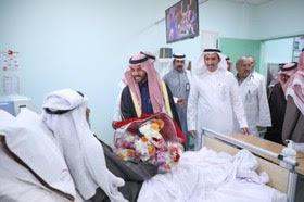 الأمير فيصل بن فهد بن مقرن نائب أمير منطقة حائل مساء يدشن عدد من المرافق الصحية بمحافظة موقق