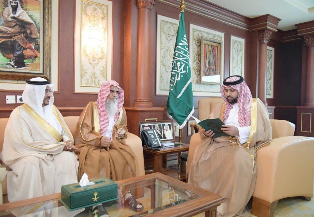 نائب أمير جازان يستقبل فضيلة مفتي المنطقة ومدير الفرع المعين