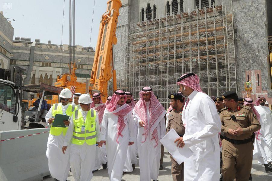 نائب أمير مكة المكرمة يقف على جاهزية مرافق المسجد الحرام