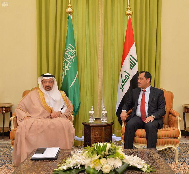 الفالح يلتقي وزير الصناعة والمعادن العراقي