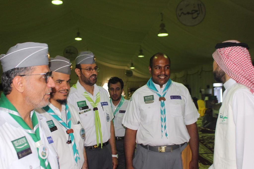 نائب رئيس جمعية الكشافة يزور المعسكر الكشفي الرمضاني بالمدينة المنورة