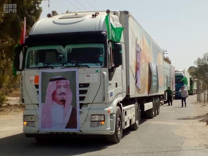وصول شحنة من اللحوم مهداة من مشروع المملكة للإفادة من الهدي والأضاحي لقطاع غزة