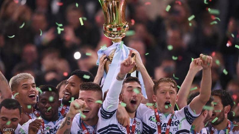لاتسيو يحرز لقب كأس إيطاليا لكرة القدم