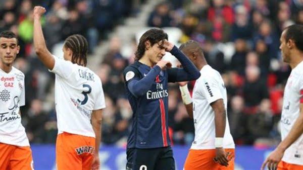 مونبلييه يفوز على بطل الدوري الفرنسي باريس سان جيرمان