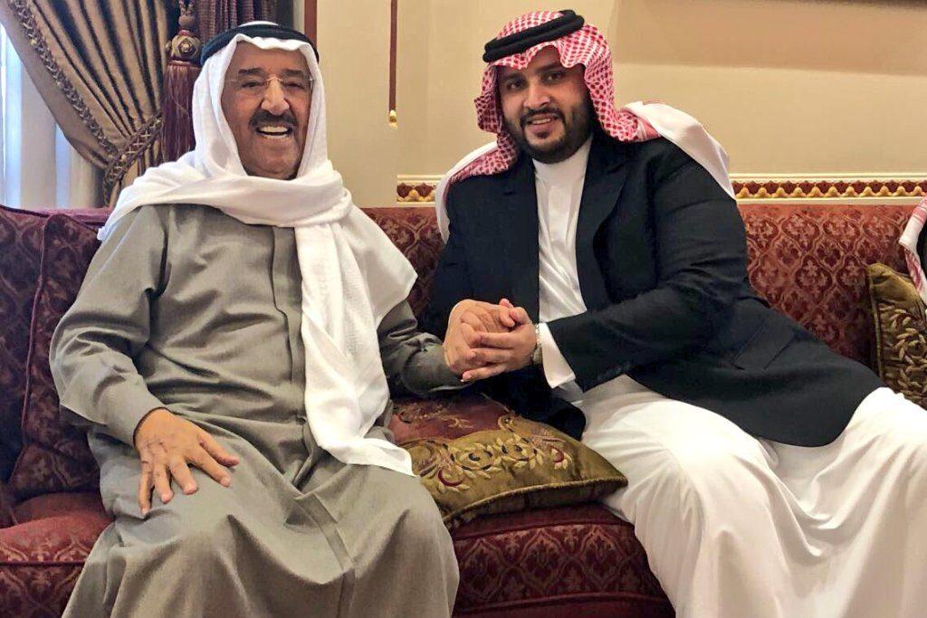 سمو أمير دولة الكويت يستقبل الأمير تركي بن محمد بن فهد