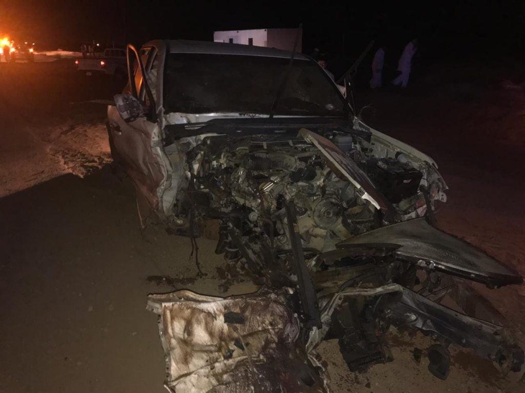 حادث مروع يقتل مواطنا وزوجته وأولاده بجازان