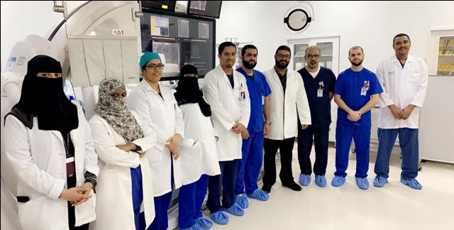 (188) إجراء تداخلي خلال 3 أشهر بوحدة القسطرة القلبية بمستشفى الهيئة الملكية بالجبيل