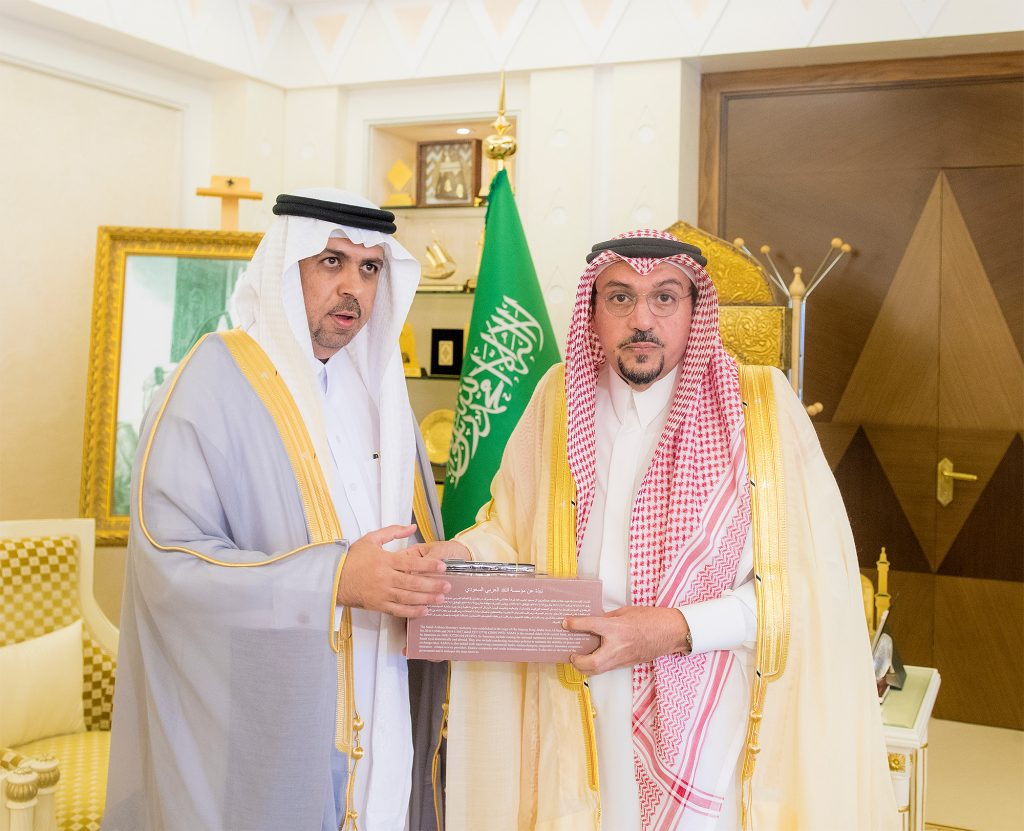أمير القصيم يستقبل حسن أبالخيل بمناسبة تكليفه مديراً لفرع مؤسسة النقد