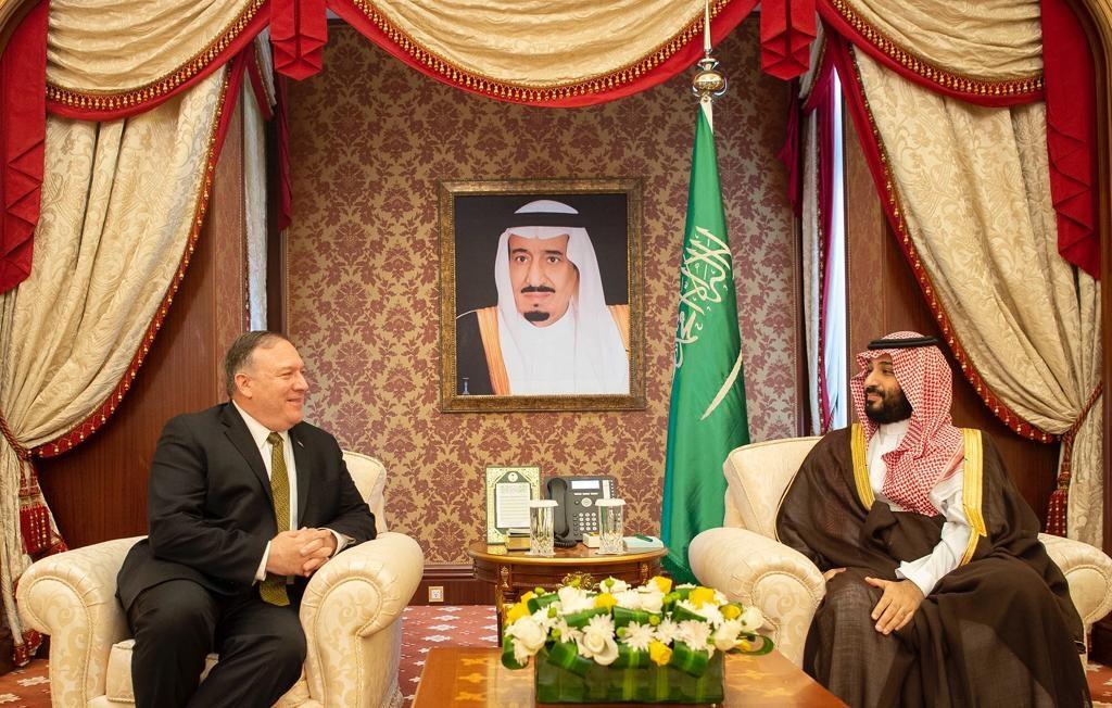 ولي العهد يجتمع مع وزير خارجية الولايات المتحدة الأمريكية