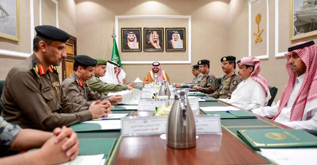 الأمير فيصل بن خالد بن سلطان يرأس اجتماع القطاعات الأمنية الأعضاء في لجنة الحج