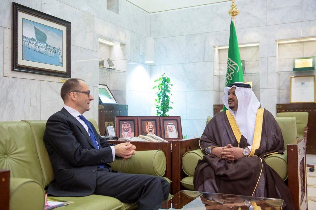 أمير الرياض بالنيابة يستقبل سفير النمسا لدى المملكة