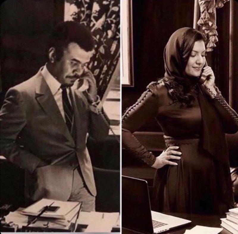 صورتين تحمل قصة تاريخية بينهما 35 عاماً