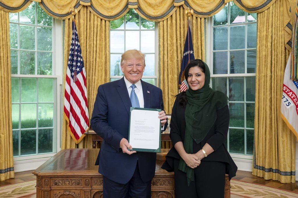 ترامب يستقبل  سفيرة خادم الحرمين الشريفين لدى الولايات المتحدة الأمريكية