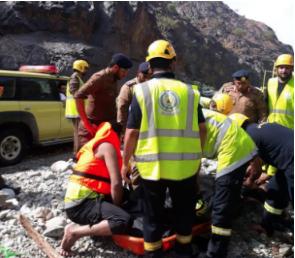 """""""مدني"""" الريث يعلن العثور على جثة مفقود في سيل وادي لجب"""