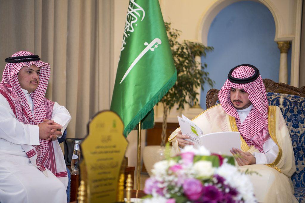 أمير الجوف يستقبل مدير مركز براعم التحدي