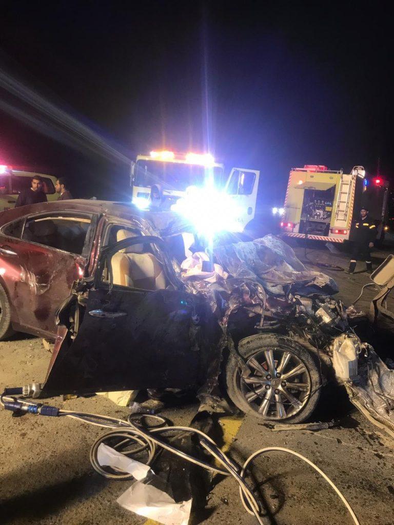 وفاة شخص وإصابة سبعة في حادث مروري مروع على طريق الباحة الطائف
