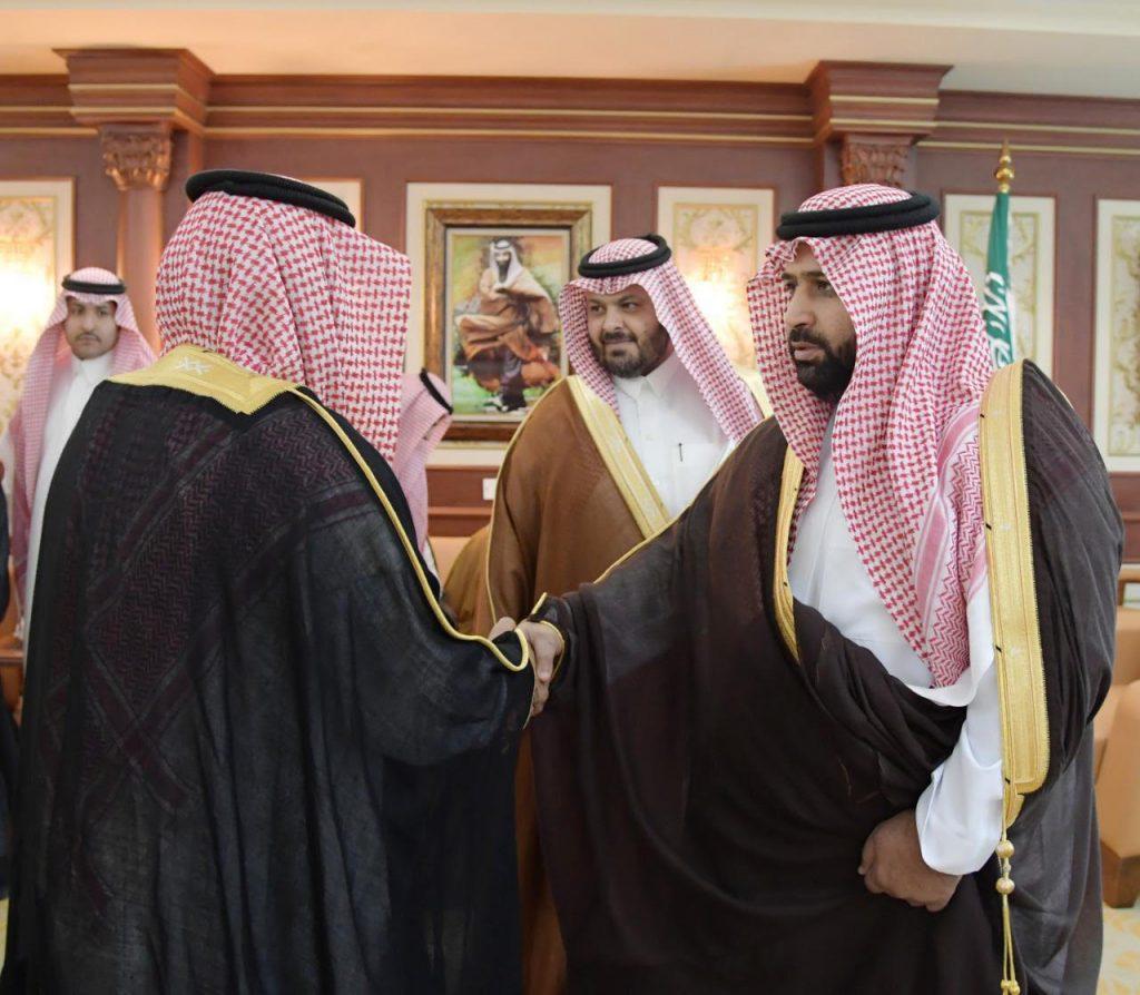 أمير جازان بالنيابة يستقبل محافظ ومشايخ الداير بني مالك..