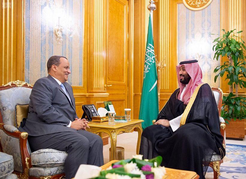 ولي العهد يلتقي وزير الشؤون الخارجية الموريتاني
