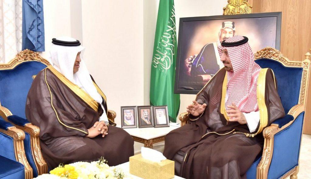 الأمير جلوي بن عبدالعزيز يستقبل أمين منطقة نجران
