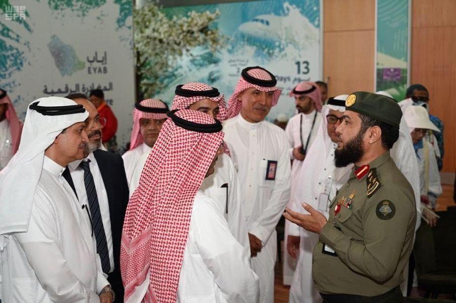 """مغادرة أولى رحلات مبادرة """"إياب"""" من مطار الأمير محمد بن عبدالعزيز الدولي بالمدينة المنورة"""