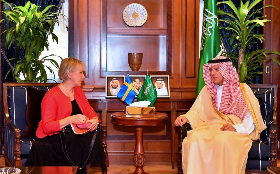 وزير الدولة للشؤون الخارجية يستقبل وزيرة الخارجية بمملكة السويد
