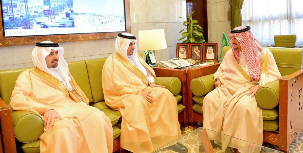 سمو أمير الرياض يستقبل رئيس جامعة نايف العربية للعلوم الأمنية
