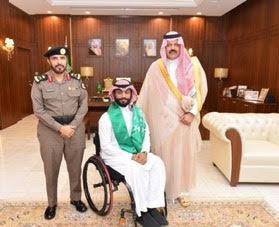أمير منطقة حائل يستقبل شاب من ذوي الاحتياجات الخاصة