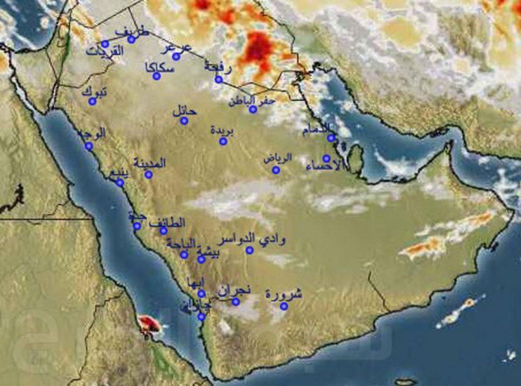 الأرصاد:  أمطار رعدية مصحوبة برياح نشطة على عدة مناطق