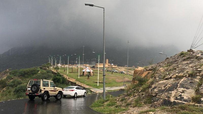 أمطار متفرقة على منطقة جازان