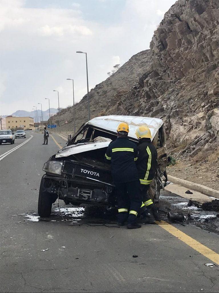 أربع إصابات في حادث مروري بالباحة