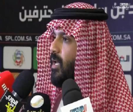 """بالفيديو.. أول تعليق من رئيس الاتحاد """"أنمار الحائلي """" بعد هزيمة فريقه أمام الأهلي!"""